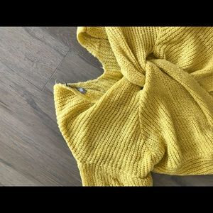 ASOS Sweaters - Asos yellow back knot sweater